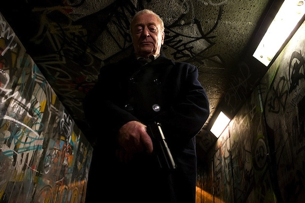 Looking down the barrel of a gun with Michael Caine
