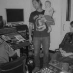 Peaking Lights in the studio with their son Mikko (Photo: Caroline Mort)