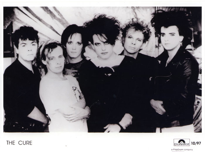An old press photo of The Cure
