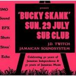 Optimo - 'Bucky Skank' Flyer