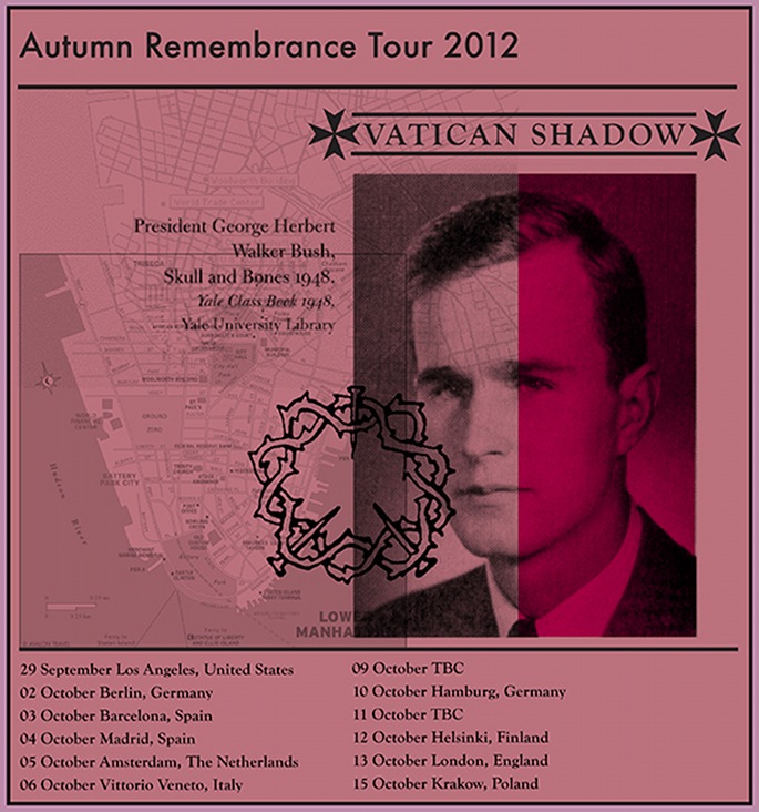Vatican Shadow tour flyer