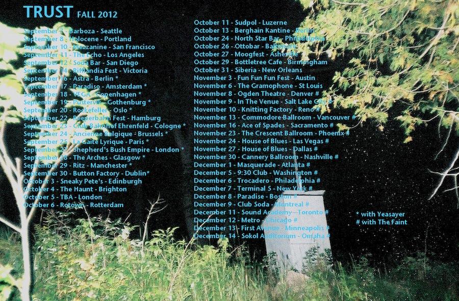 Trust tour dates