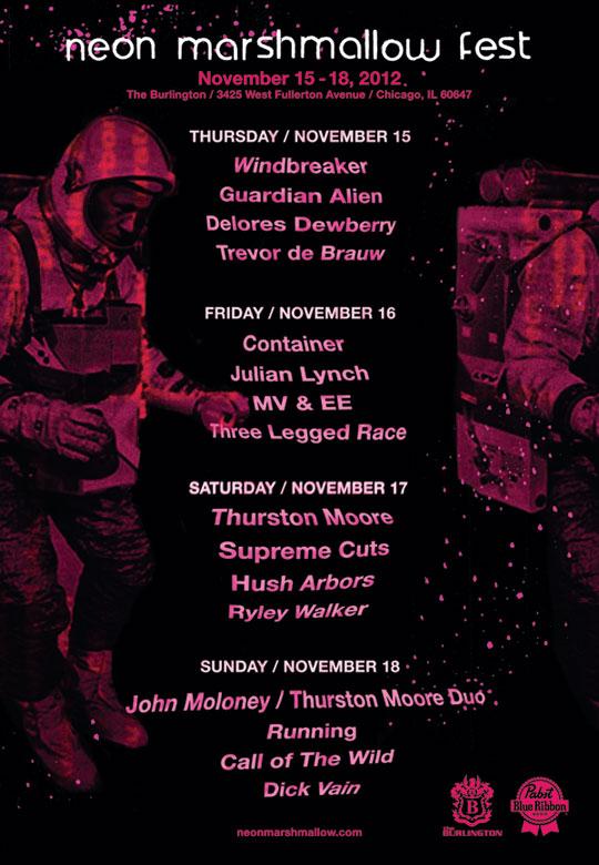 Neon Marshmallow Fest 2012 flyer