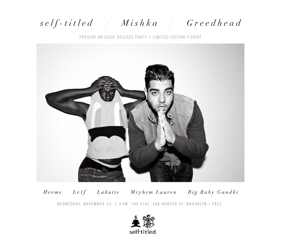 The flyer for our Greedhead x Mishka party