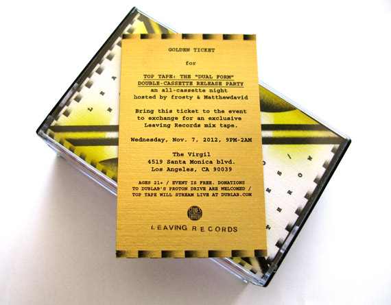 A golden ticket from Leaving x Stones Throw Records