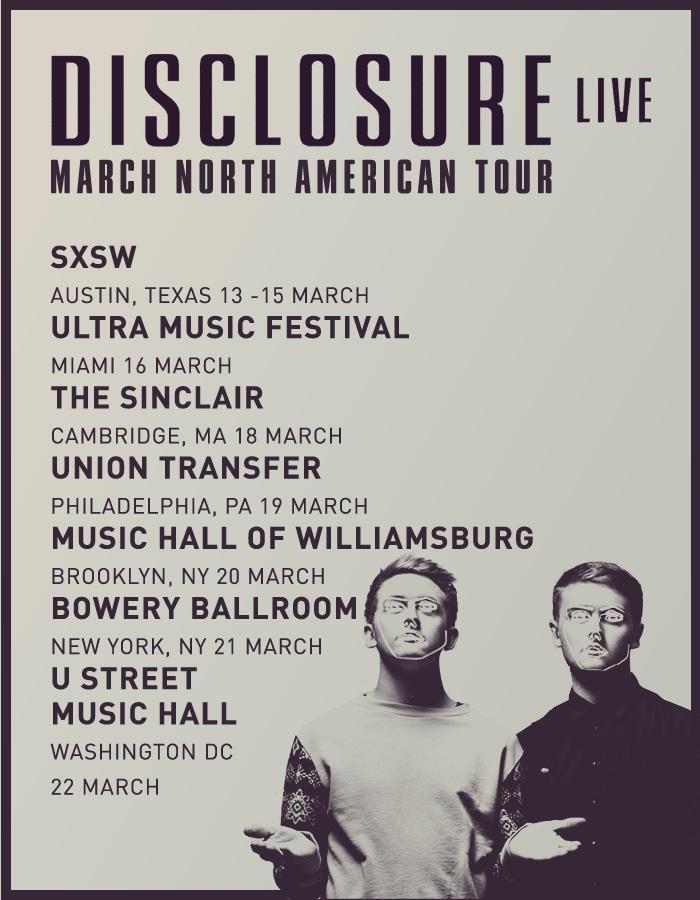 Disclosure's North American tour