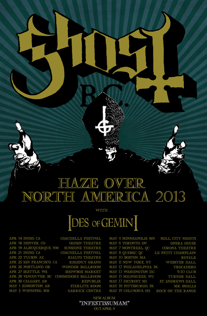 Ghost's 'Haze Over North America' flyer