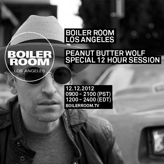 Peanut Butter Wolf's Boiler Room flyer