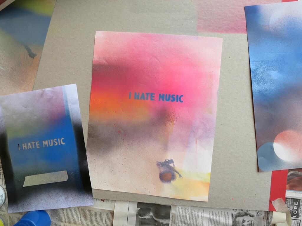 Superchunk's 'I Hate Music' artwork