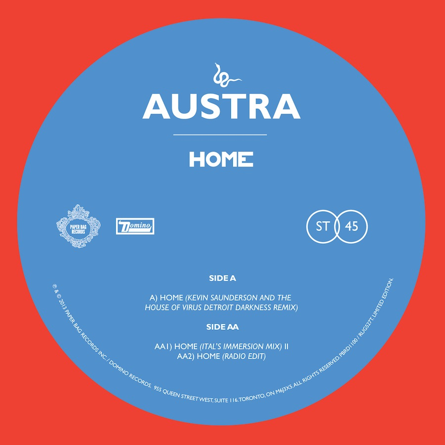 """Austra's limited """"Home"""" single"""