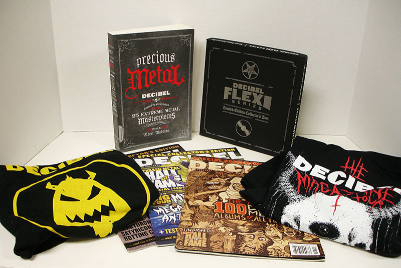 A benefit package from Decibel magazine