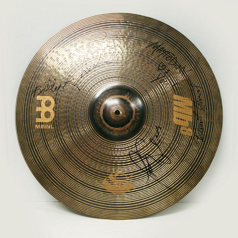 Mastodon's signed cymbal