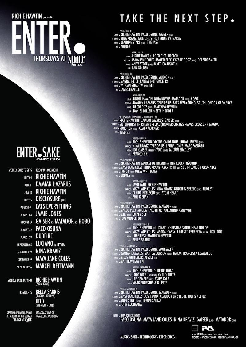 ENTER.'s final 2013 lineup