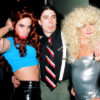 Dave Grohl poses with Anthony Kiedis and Flea in drag
