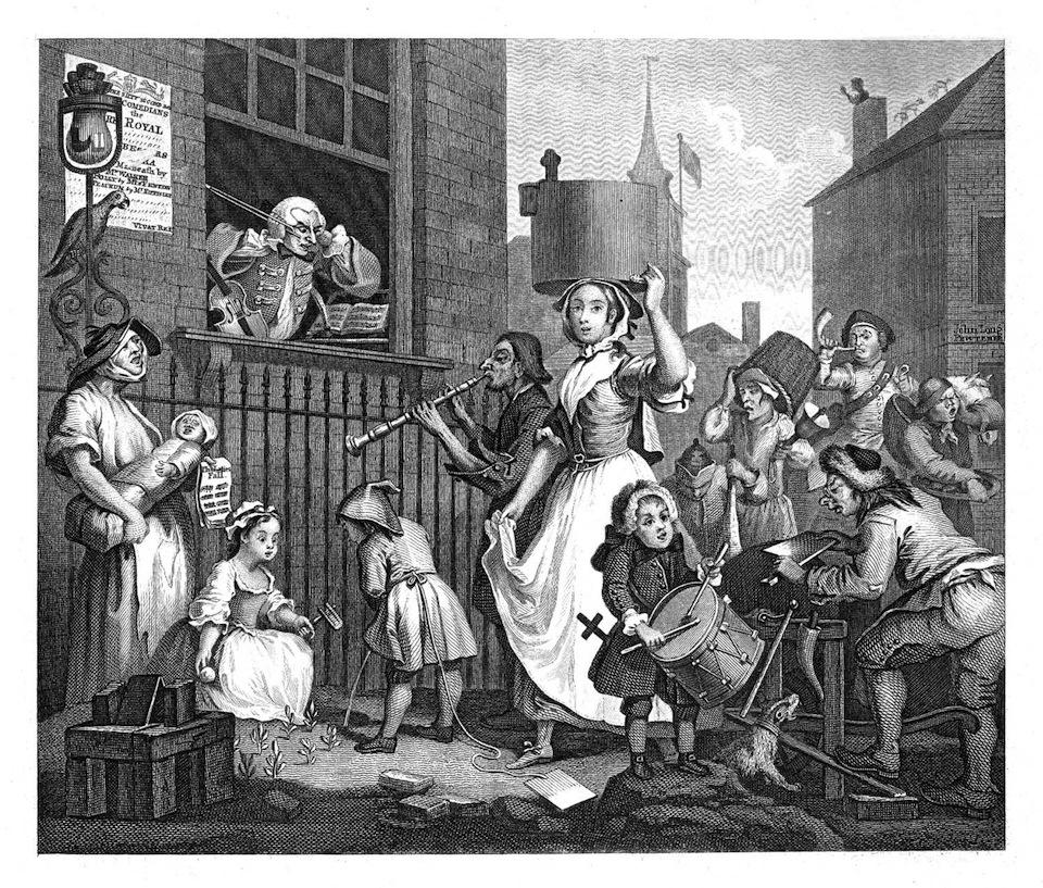 William Hogarth's 'Enraged Musician'