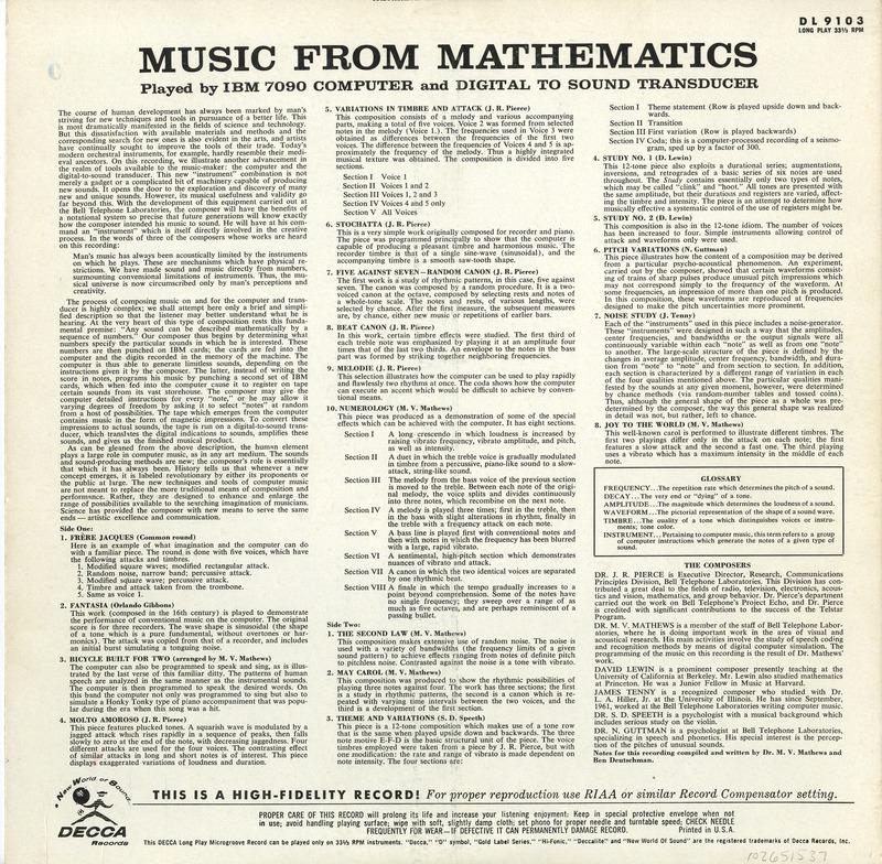 'Music From Mathematics'