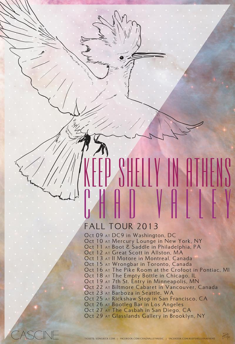 Keep Shelly in Athens' tour poster