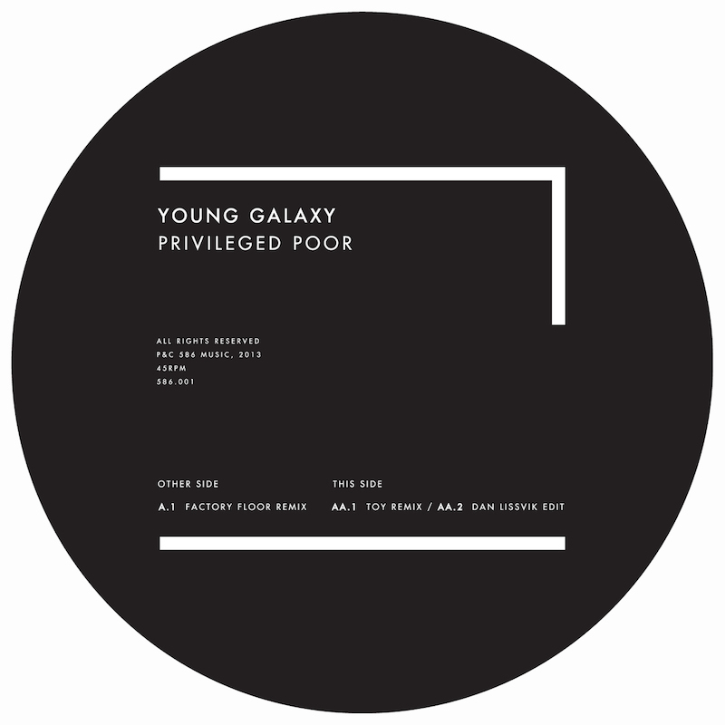 Young Galaxy's 'Privileged Poor' 12''