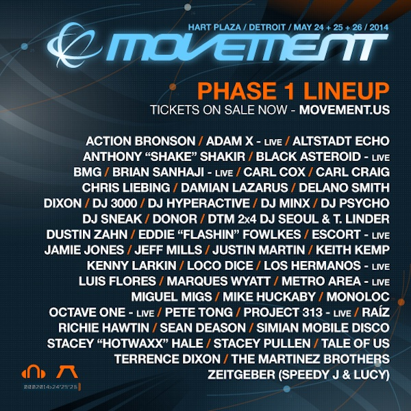 Detroit Movement Phase 1 Lineup