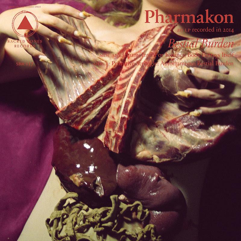 Pharmakon - 'Bestial Burden' cover