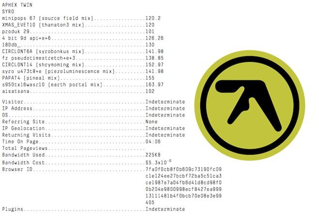 AphexTrack-listing