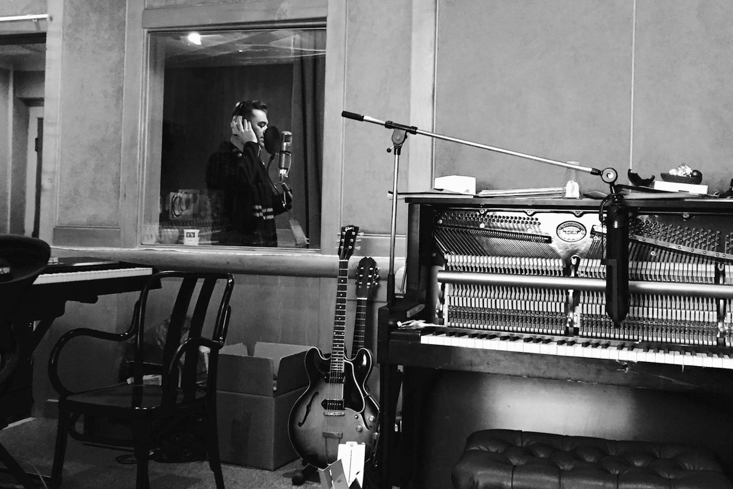 Sam Smith in the studio