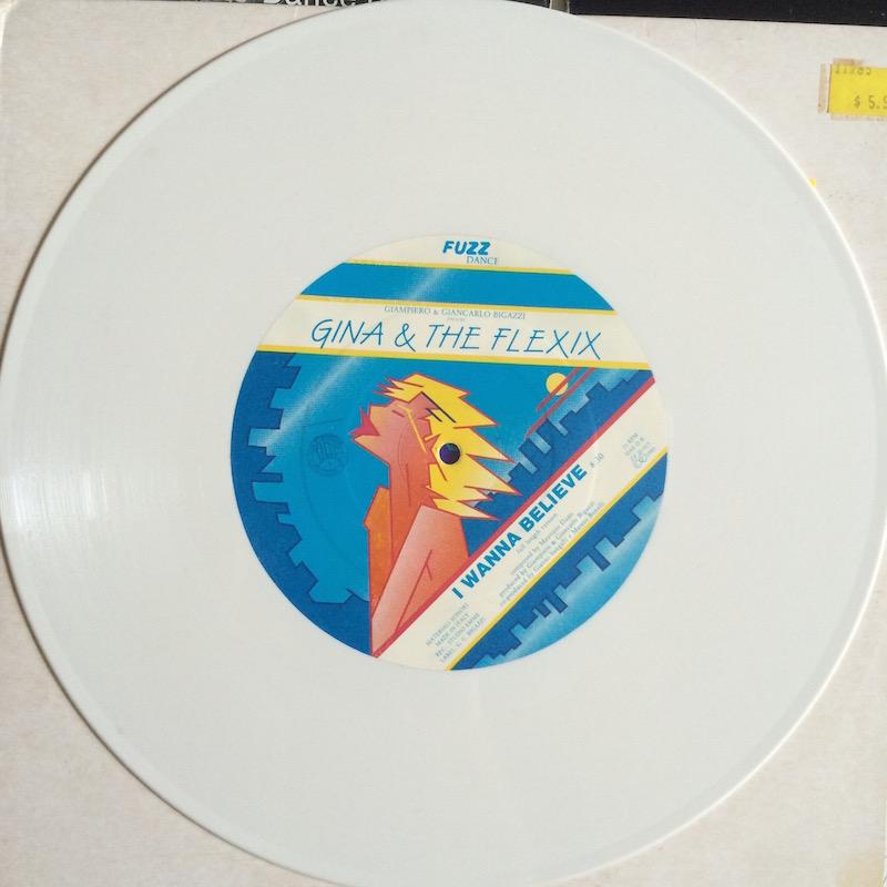 "6 Gina & The Flexix ""I Wanna Believe"" large label"
