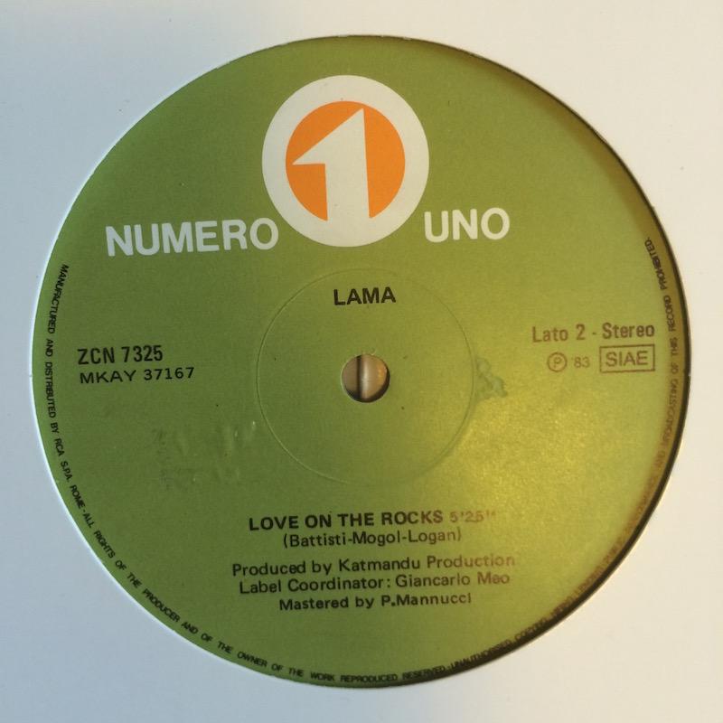 "9 Lama ""Love On The Rocks"" label"