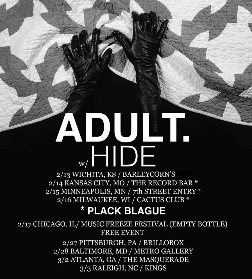 Adult + Hide tour dates