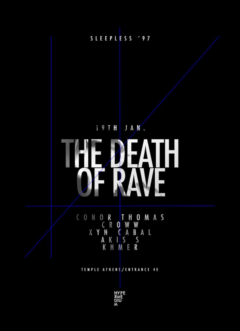 Death of Rave flyer